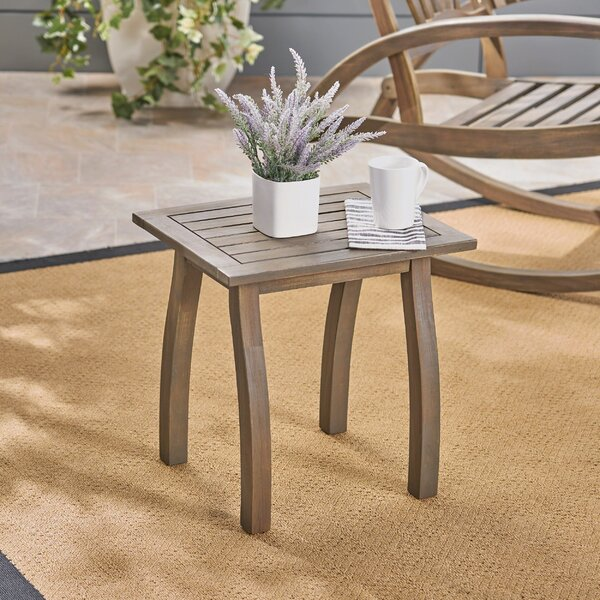 Vanhorn Solid Wood Side Table by Highland Dunes