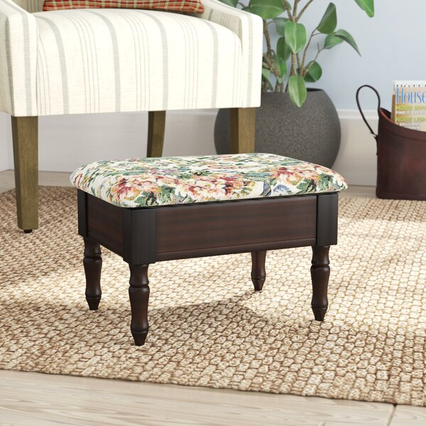 Cleo Queen Anne Style Leather Storage Ottoman By August Grove