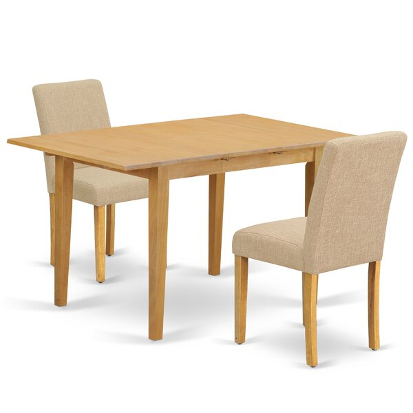 Gebbert 3 Piece Extendable Solid Wood Dining Set by Winston Porter Winston Porter