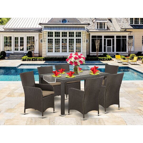 Penney Back Yard 7 Piece Dining Set with Cushions by Wrought Studio