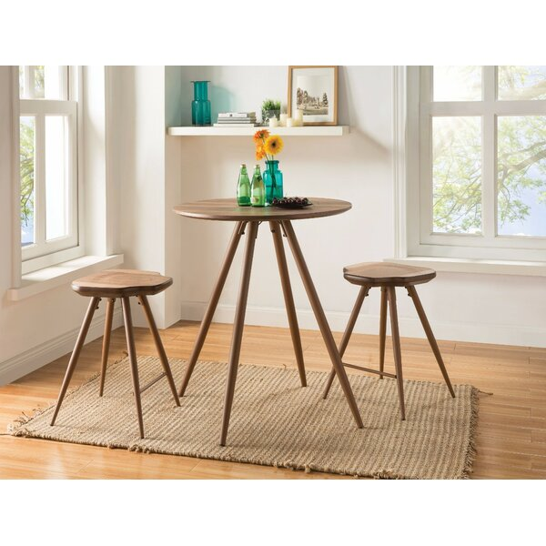 Naugatuck Amazing 3 Piece Counter Height Dining Set by Wrought Studio