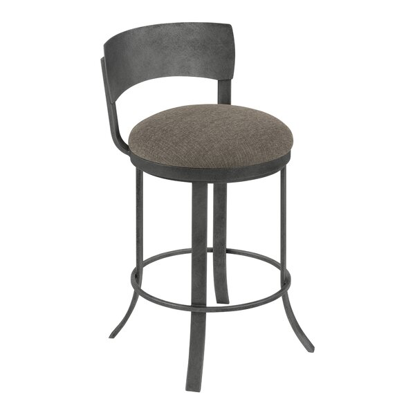 Barefield Swivel Bar Stool by Gracie Oaks