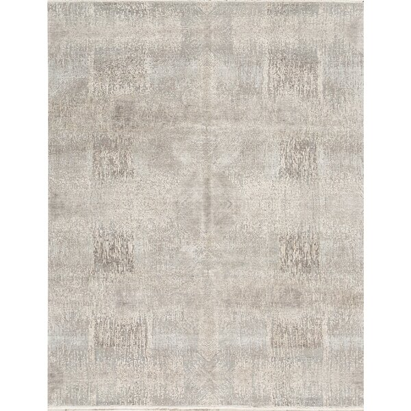 Hand-Knotted Wool Blue/Silver Area Rug