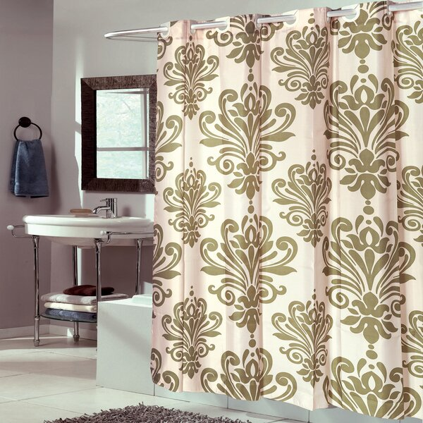 Sweet Home Collection Fleur De Lis Fabric Shower Curtain