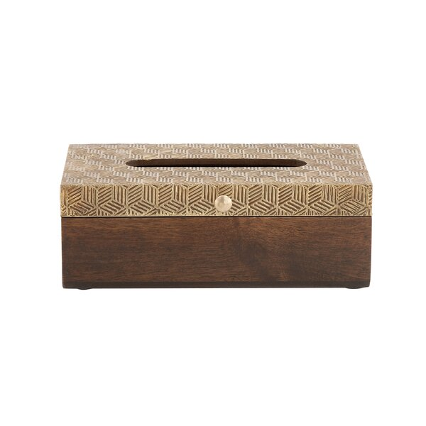 Wood Tissue Box Cover by Cole & Grey