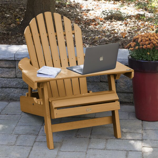 Camacho Plastic/Resin Folding Adirondack Chair with Table by Longshore Tides Longshore Tides