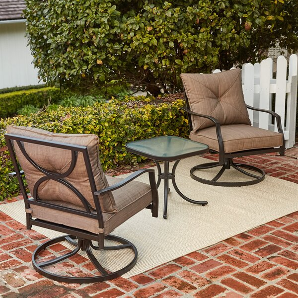 LeRay 3 Piece Conversation Set with Cushions by Winston Porter
