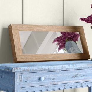 Gracie Oaks Ryanda Rectangular Wood Framed Wall Mirror