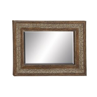 Cole & Grey Metal and Wood Wall Mirror
