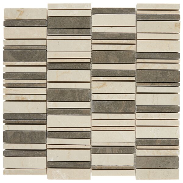 Harrison Decorative Accent Random Sized Marble Mosaic Tile in Waterfall Warm by Itona Tile