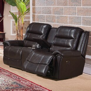 Gavril Leather Reclining Loveseat by Red Barrel Studio