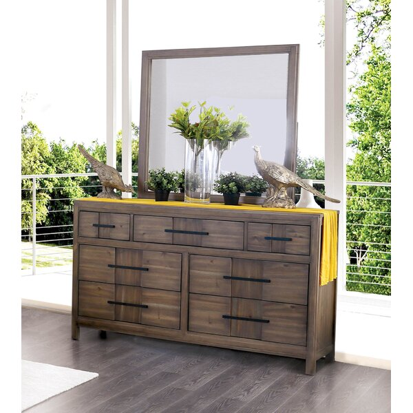 Pereyra 7 Drawer Dresser With Mirror By Union Rustic Discount