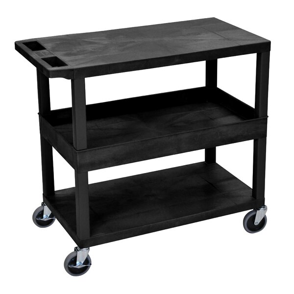 E Series Utility Cart With 2 Tub And 1 Flat Shelves By Luxor.