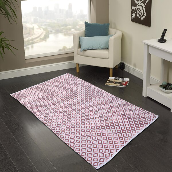 Hand Woven Coral Area Rug by Cozy Home and Bath