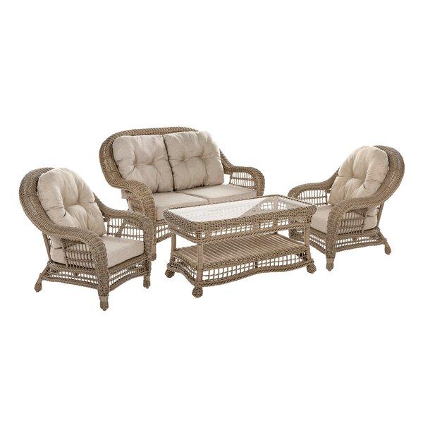 Cana 4 Piece Sofa Set with Cushions by Best Desu, Inc.