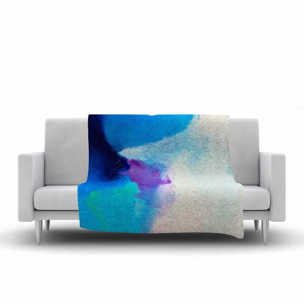 Geordanna Fields Happiness is Like a Butterfly Abstract Fleece Throw by East Urban Home