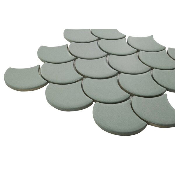 Portofino Random Sized Mosaic Sheet of Tiles in Green by Grayson Martin