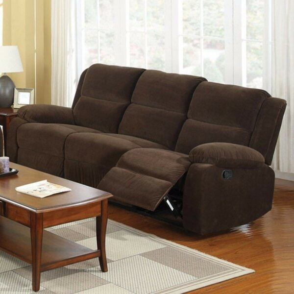 Last Trendy Garduno Leatherette Motion Reclining Sofa by Red Barrel Studio by Red Barrel Studio