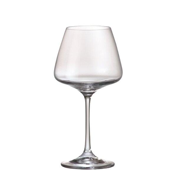Naomi Glass 11.83 oz. White Wine Goblet (Set of 6) by Red Vanilla