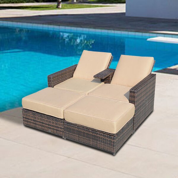 Marti 4 Piece Double Chaise Lounge With Cushion By Brayden Studio