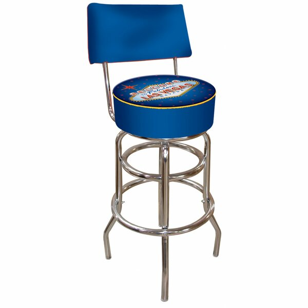 Las Vegas 31 Swivel Bar Stool by Trademark Global