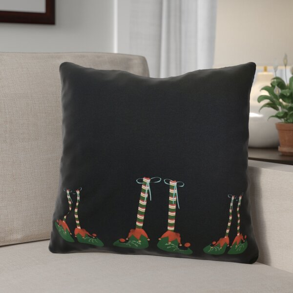 Elfin Magic Throw Pillow by The Holiday Aisle
