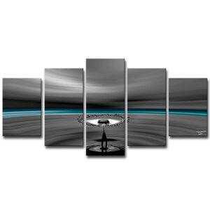'Aqueous Trance I' by Tristan Scott 5 Piece Graphic Art on Wrapped Canvas Set by Ready2hangart