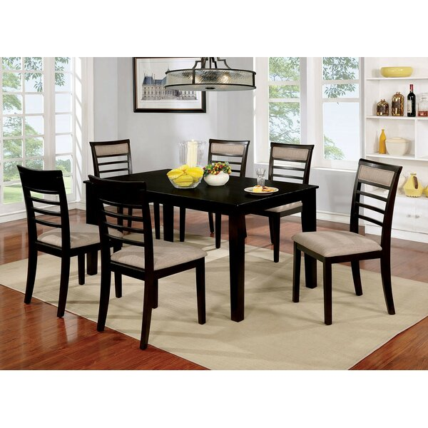 Opalstone 7 Piece Solid Wood Dining Set by Gracie Oaks