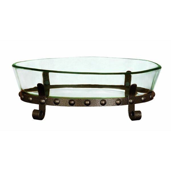 Metal and Glass Serving Bowl by Cole & Grey