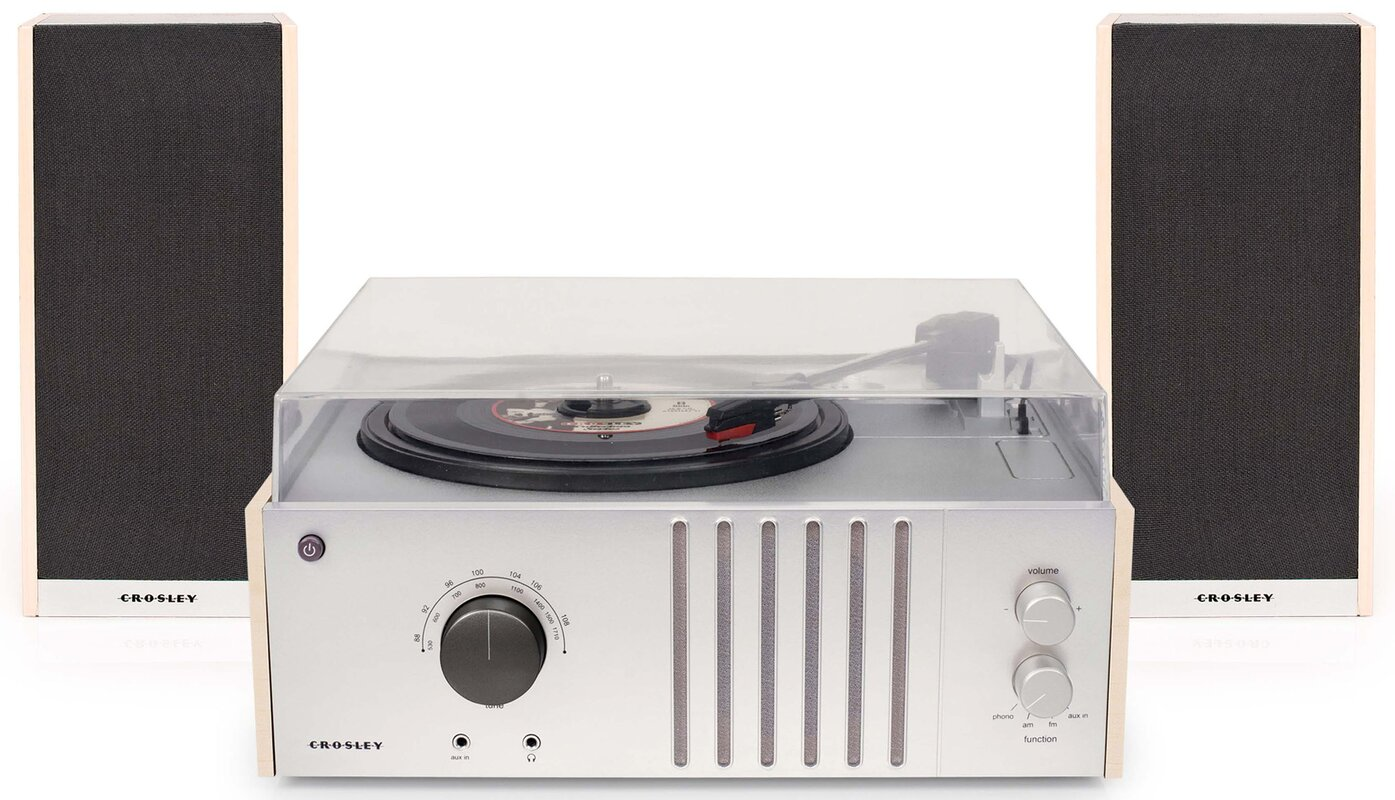 Crosley Electronics Player with Detachable Speakers & Reviews   Wayfair