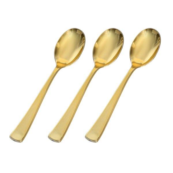 Golden Secrets Golden Plastic Disposable Spoon (Set of 400) by Fineline Settings, Inc