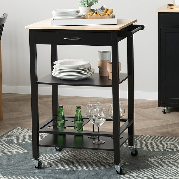Tobin Kitchen Cart by Canora Grey