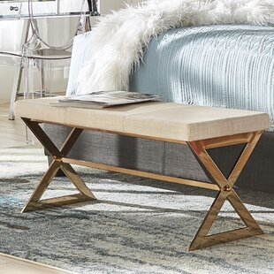 Best Reviews Arvid Wood Bench ByWilla Arlo Interiors