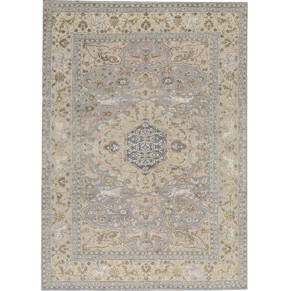 One-of-a-Kind Sona Hand-Knotted Gray 9'11 x 13'11 Area Rug