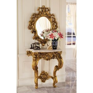 Madame Console Table and Mirror Set by Design Toscano