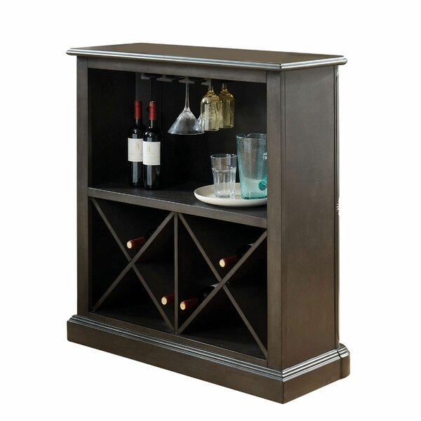 Avondale Wooden Bar With Wine Storage By Gracie Oaks