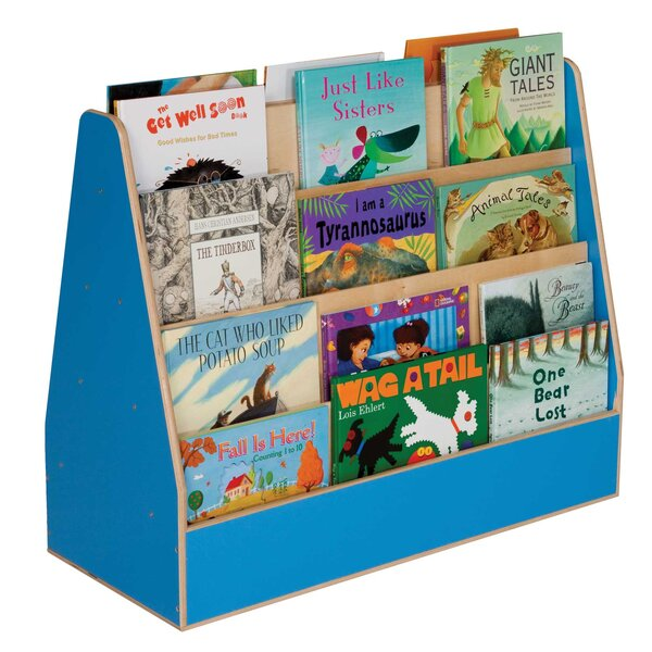 Double Sided 8 Compartment Book Display with Casters by Wood Designs
