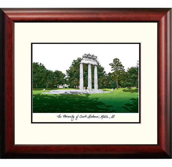 Alumnus Lithograph Framed Photographic Print by Campus Images