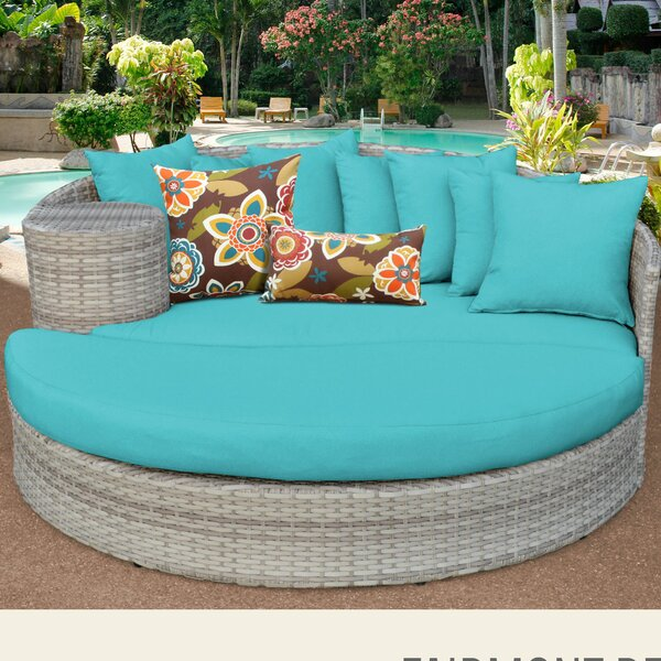 Ansonia Patio Daybed with Cushions by Rosecliff Heights