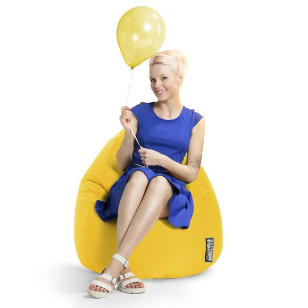 Microfiber Fabric Bean Bag Chair by Ebern Designs