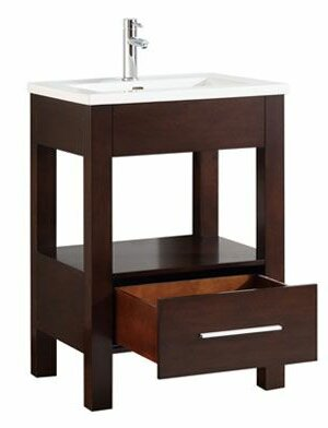 Cowart Vitreous China Top 25 Single Bathroom Vanity Set by Orren Ellis
