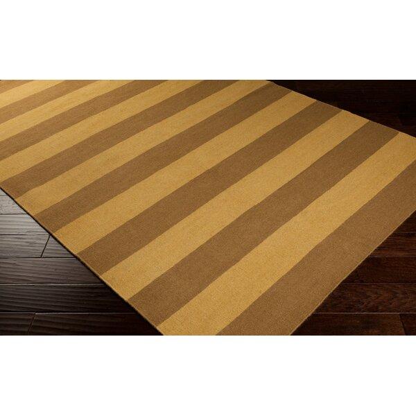 Atkins Caramel/Brown Sugar Striped Area Rug by Charlton Home