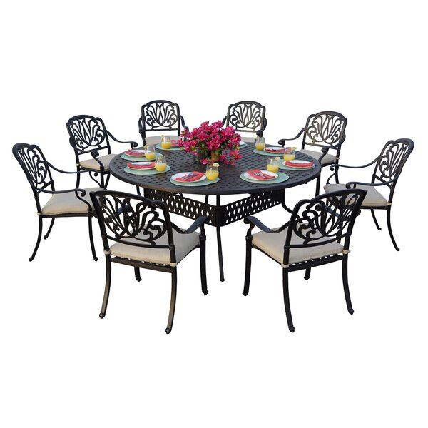 Keyes 9 Piece Dining Set with Cushions by Darby Home Co