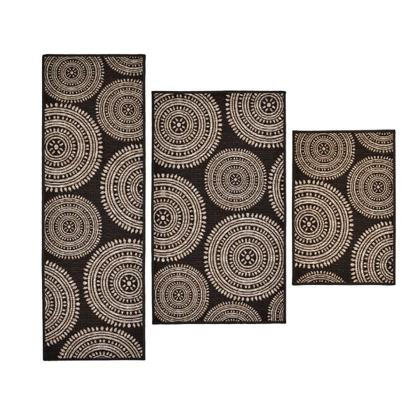 3 Piece Aztec Brown Area Rug Set by Madison Home