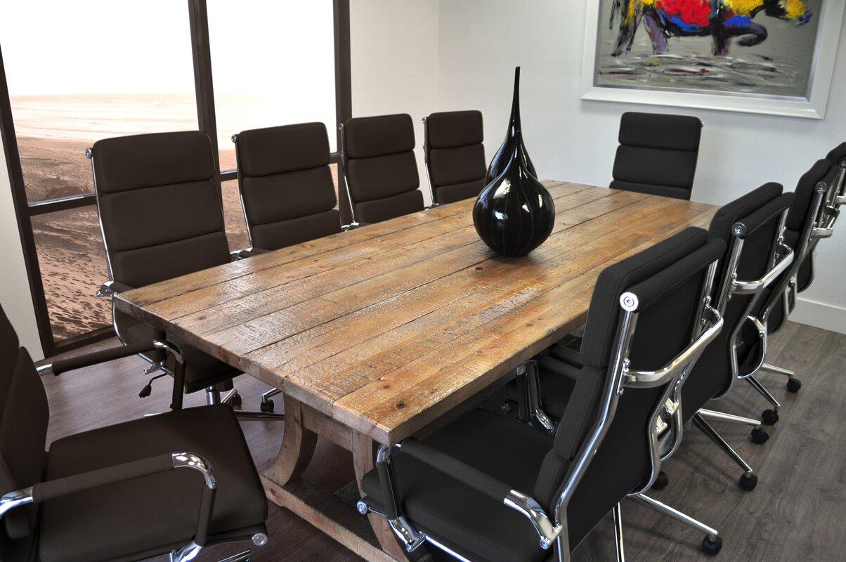 solispatio 11 piece ligna 8 39 rectangular conference table set reviews. Black Bedroom Furniture Sets. Home Design Ideas
