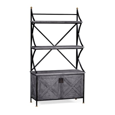 Bakers Rack Etagere Bookcase Jonathan Charles Fine Furniture Color: Antique Dark Gray
