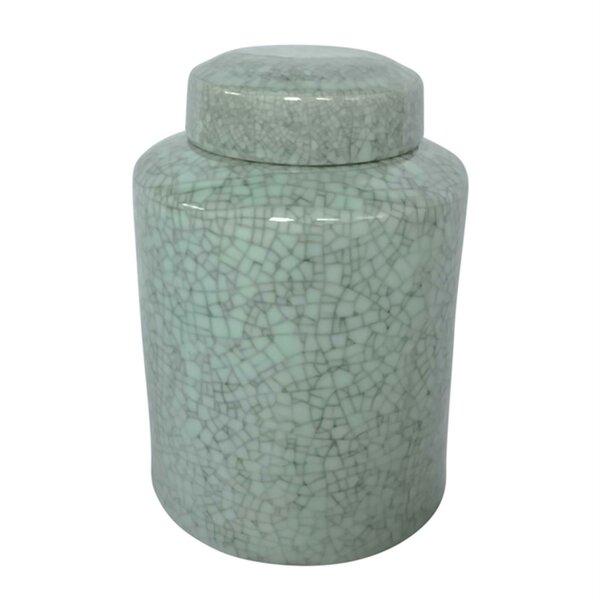 Simple And Elegant Ceramic Covered Storage Jar by Highland Dunes