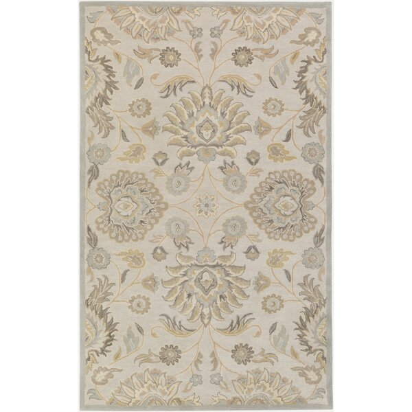 Topaz Hand-Tufted Light Gray/Khaki Area Rug by World Menagerie