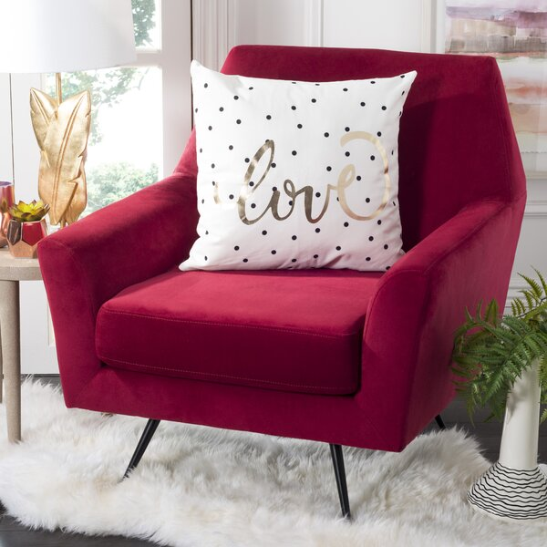 Dehner Spotted Love Cotton Throw Pillow by House of Hampton