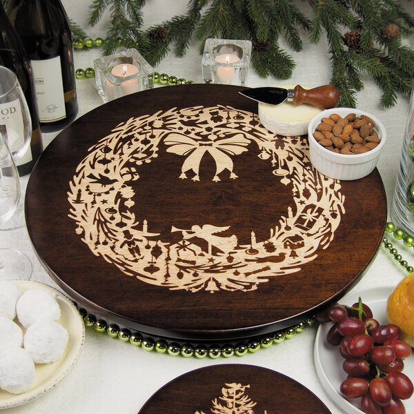 Vintage Christmas Wreath Lazy Susan by Martins Homewares